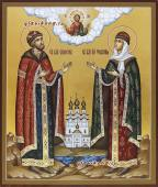Благоверные князь и княгиня Петр и Феврония, икона писаная артикул 803