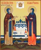 Князь и княгиня Петр и Феврония Муроские писаная икона артикул 808
