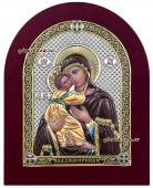 Святой образ Владимирской Божией Матери икона в серебряной ризе артикул 21021