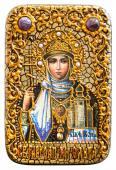 Равноапостольная Ольга икона на дубовой доске в подарочном футляре