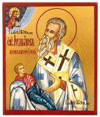Иулиан Кеноманийский, писаная икона с золочением фона