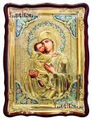 Образ Владимирской Божией Матери храмовая икона в ризе размер 60х80 см