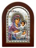 Иерусалимская Божия Матерь, икона в серебряном окладе, производство Греция