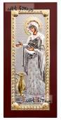 Геронтисса Божия Матерь икона в посеребренном окладе
