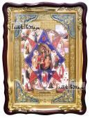 """""""Неопалимая Купина"""", храмовая икона в фигурной рамке, 60х80 см"""