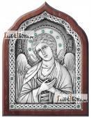 Ангел Хранитель серебряная икона со стразами артикул 11182