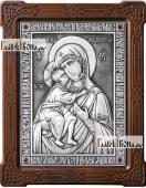 Феодоровская Божия Матерь оформление - красные стразы артикул 11136