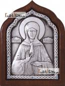 Сереребряная икона Матроны Московской со старазами артикул 11163