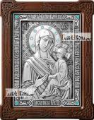 Тихвинская Божия Матерь икона из серебра артикул 11191