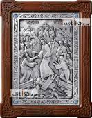Воскресение Христово икона из серебра артикул 11162