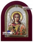 Архангел Михаил икона в посеребренном окладе с эмалью на дереве