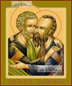 Петр и Павел апостолы оплечные икона печатная артикул 90358