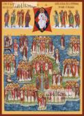 Собор Британских и Ирландских святых, икона печатная, артикул 90372