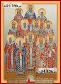 Собор Московских святителей, печатная на дереве икона