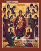 Собор преподобных старцев Оптинских печатная на дереве икона