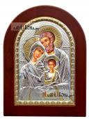 Святое Семейство, икона из серебра, производство Греции