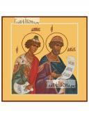Святые пророки Даниил и Давид, печатная на доске икона