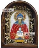 Даниил Московский, красные одежды, дивеевская икона из бисера