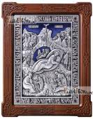 Рождество Христово, икона из серебра с эмалью, артикул 13161 - стразы