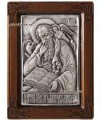 Иоанн Богослов серебряная икона в рамке артикул 11111