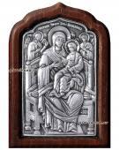 "Божия Матерь ""Всецарица"", серебряная икона артикул 11123"