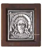 Образ Спаса Нерукотворного серебряная икона артикул 11131