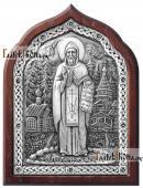 Серфим Вырицкий икона серебряная в деревянной рамке
