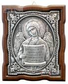 Серебряная икона Ангела Хранителя с молитвой артикул 11194