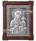Образ Иверской Пресвятой Богородицы серебряная икона артикул 11200