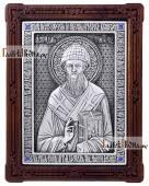 Спиридон Тримифунтский икона серебряная артикул 11202