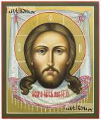 Писаная икона Спаса Нерукотворного в живописном стиле, артикул 621