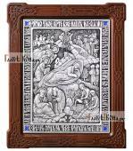 Рождество Христово, икона из серебра, артикул 11207
