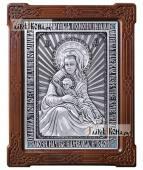 """Серебряная икона """"Милостивая"""" Божия Матерь Киккская артикул 11212"""