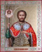 Резная икона Александра Невского артикул 505