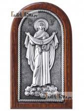 Покров Пресвятой Богродицы, икона серебряная артикул 11215