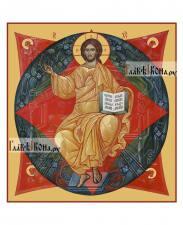 Спас в Силах, печатная икона на доске, артикул 90279