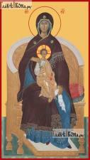 Божия Матерь на Престоле старинный стиль - артикул 90455