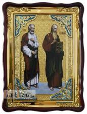 Варфоломей и Иоанн Богослов, храмовая икона 60х80 см