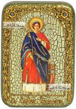 Екатерина великомученица (ростовая), икона подарочная в футляре, 10х15 см