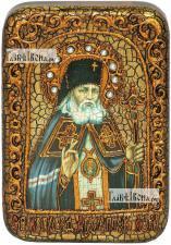 Святитель Лука, исповедник, архиепископ Крымский, икона подарочная в футляре, 10х15 см