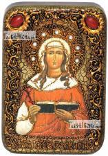 Валентина Кесарийская, икона подарочная в футляре, 10х15 см