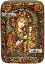 Смоленская Божия Матерь, икона подарочная в футляре, 10х15 см