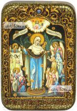 Всех Скорбящих Радость Божия Матерь, икона подарочная в футляре, 10х15 см