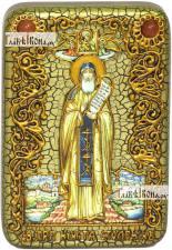 Преподобный Никита Столпник (Переславский), икона подарочная в футляре, 10х15 см
