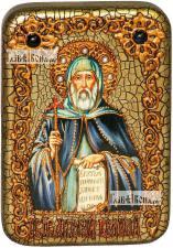 Преподобный Антоний Великий, икона подарочная в футляре, 10х15 см