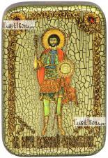 Валерий Севастийский, икона подарочная в футляре, 10х15 см