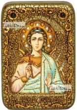 Ангел Хранитель (в живописном стиле), икона подарочная в футляре, 10х15 см