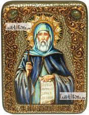 Антоний Великий, икона подарочная на дубовой доске, 15х20 см
