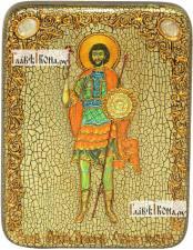 Валерий Севастийский, икона подарочная на дубовой доске, 15х20 см
