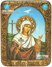Иулия (Юлия) Карфагенская, икона подарочная на дубовой доске, 15х20 см